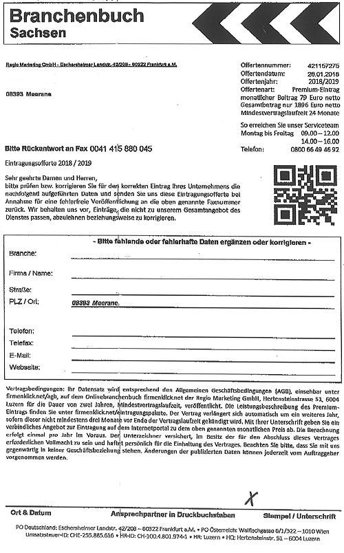 Wichtiger Hinweis An Unternehmen Vorsicht Bei Fax Anfragen Für Ein