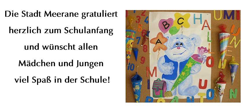 Grusse Zum Schulanfang 2018 Stadt Meerane